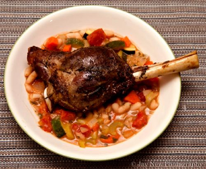 Rice Stuffed Lamb Shanks picture