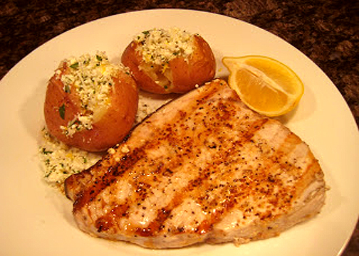 Grilled Cod With Cheese picture