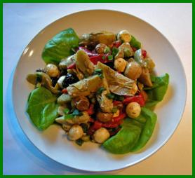 Cookin Greens Antipasto Salad with Quartered Artichokes picture