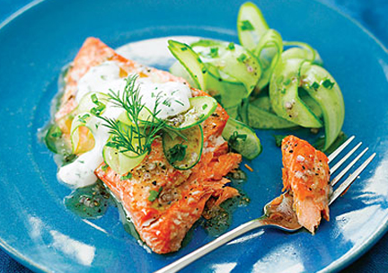 Salmon And Cucumber Salad picture