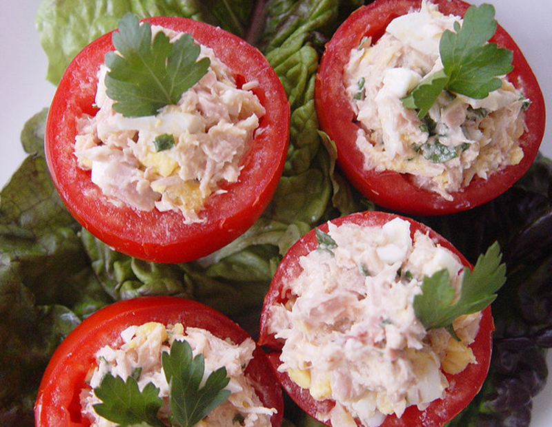 Salmon Filled Tomatoes picture