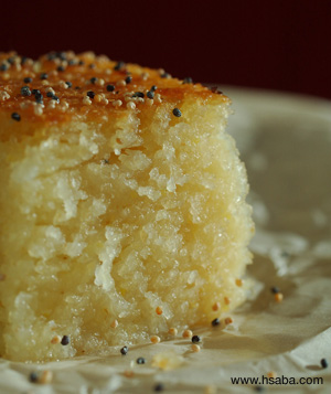 golden semolina pudding picture