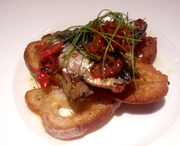 Cheese and Sardines On Toast picture