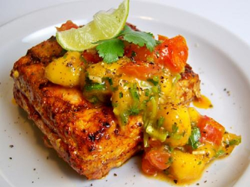 Sauted Red Snapper With Mango Salsa picture