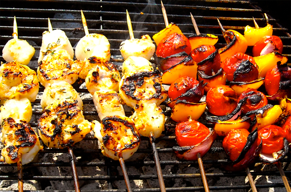 Garlic Rosemary Scallop Kabobs picture