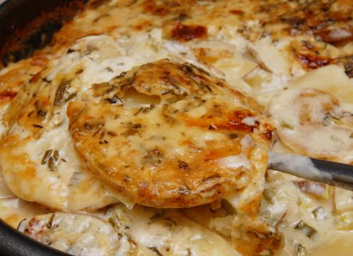 Microwave Scalloped Potatoes With Mustard And Chives picture