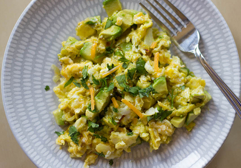 Scrambled Eggs with Avocado picture