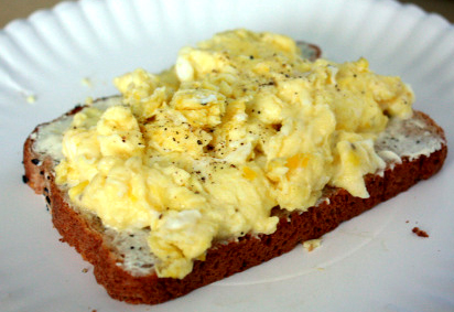 Scrambled Eggs with Toast picture