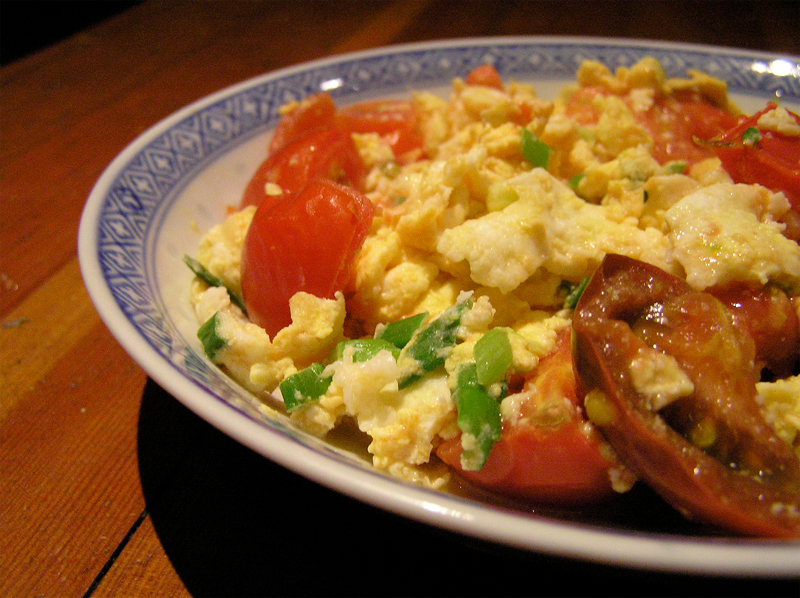 Scrambled Eggs With Tomatoes picture