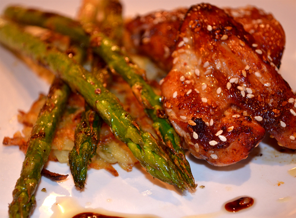 Sesame Chicken with Asparagus picture