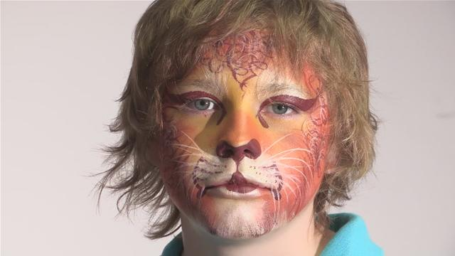 Lion Face Makeup How to do Lion Face Paint