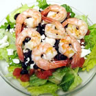 shrimp spinach salad picture