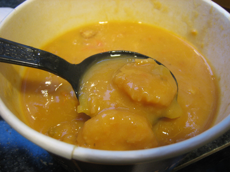 Yellow Squash and Shrimp Bisque picture