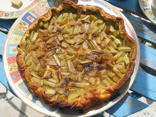 Microwave Cooked Rhubarb and Custard Pie picture
