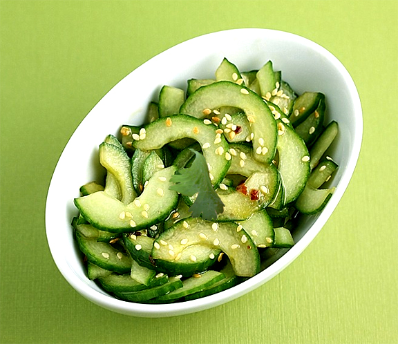 Sliced Cucumbers With Sesame Rice Vinaigrette picture