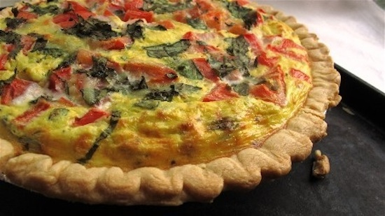 FRESH TOMATO AND BASIL QUICHE picture
