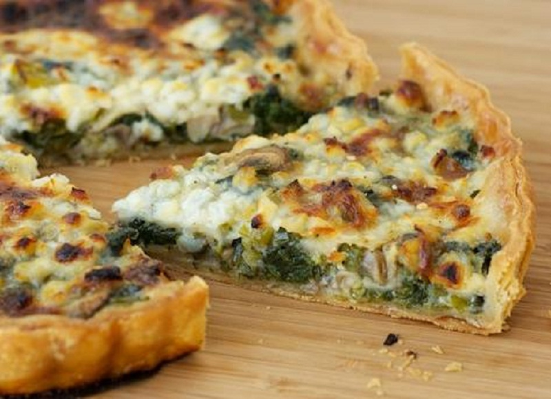 Spinach And Cheese Flan picture