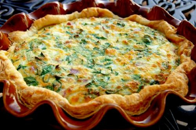 Spinach And Mushroom Quiche picture