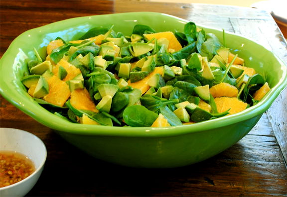 Spinach, Avocado And Orange Salad picture