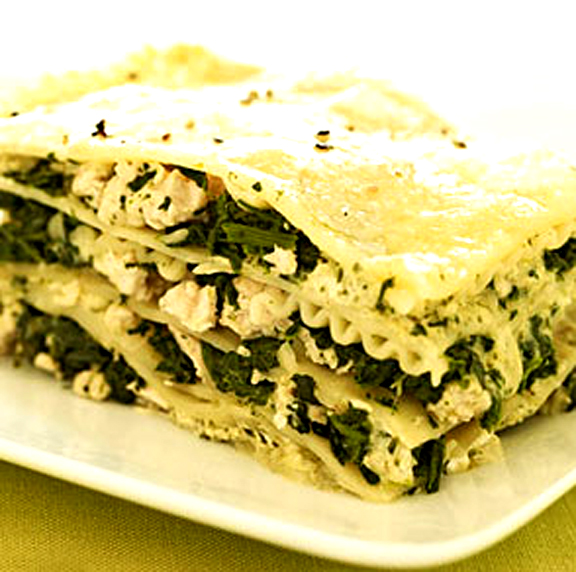 Quick And Easy Spinach Pesto Lasagna picture