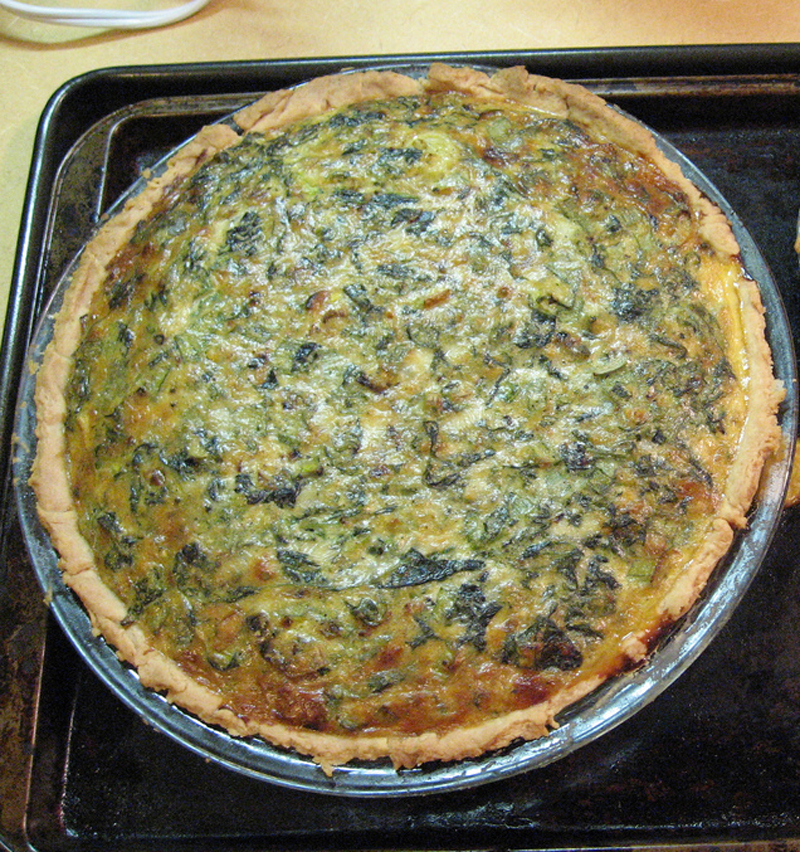 Spiced Spinach Quiche picture