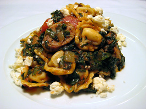 Herb Tortellini with Spinach, Turkey Sausage & Feta picture