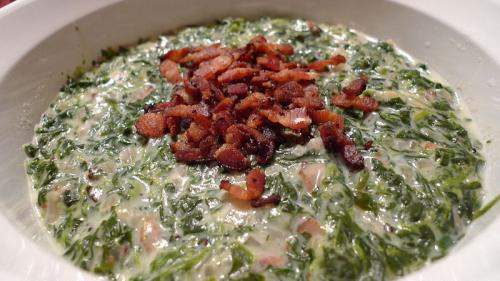 Spinach with Sour Cream picture
