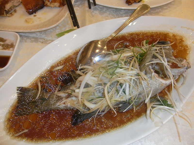 Steamed Sea Bass, Chinese Style picture
