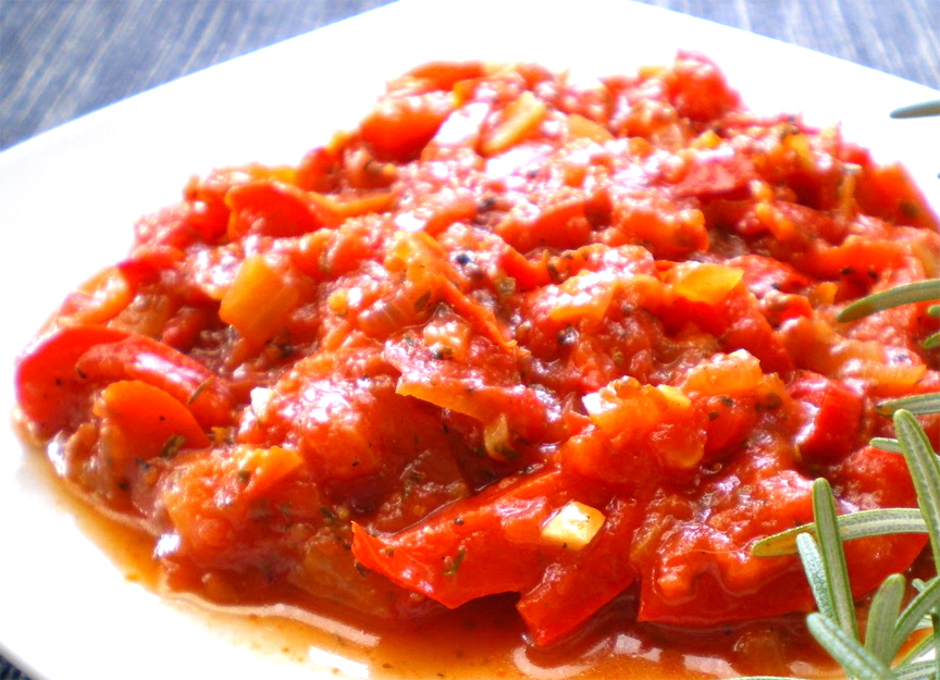 Stewed Red Peppers picture