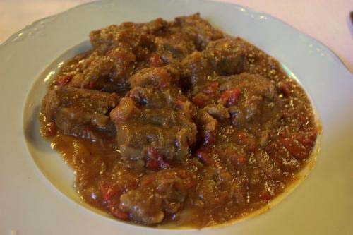 Stewed Veal With Mushrooms picture