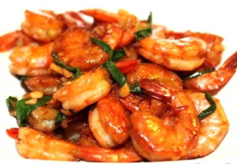 Stir Fried Shrimp with Ginger and Garlic picture