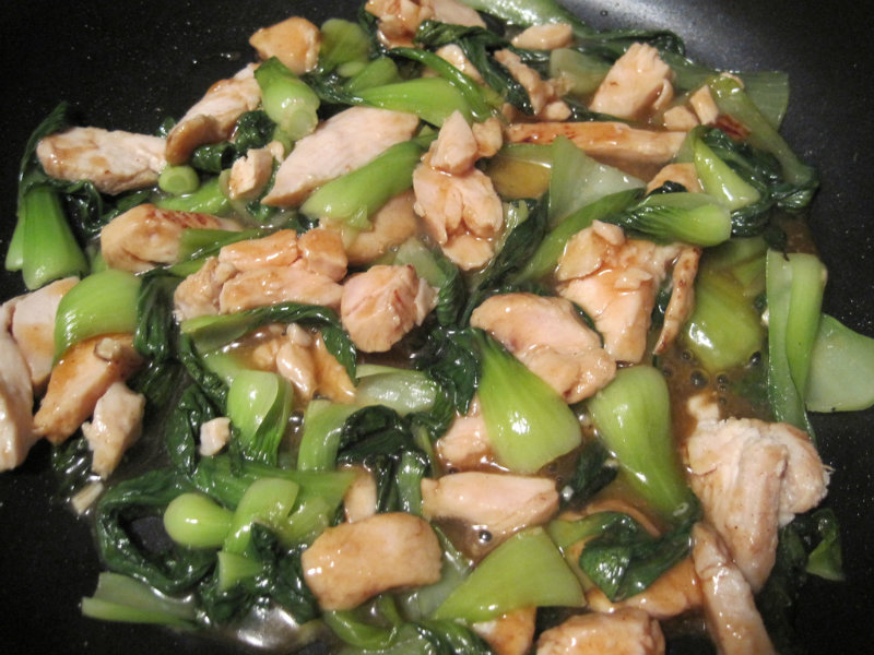 Stir Fried Smoked Chicken with Chinese Leaves picture