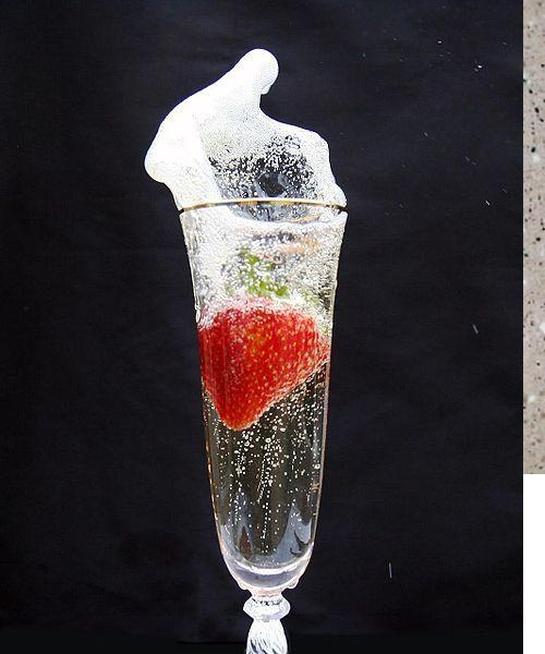 Strawberries in Champagne picture