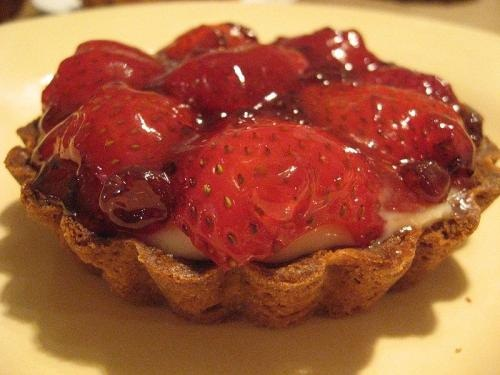 Strawberry And Banana Tartlets In Coconut Pastry Shells picture