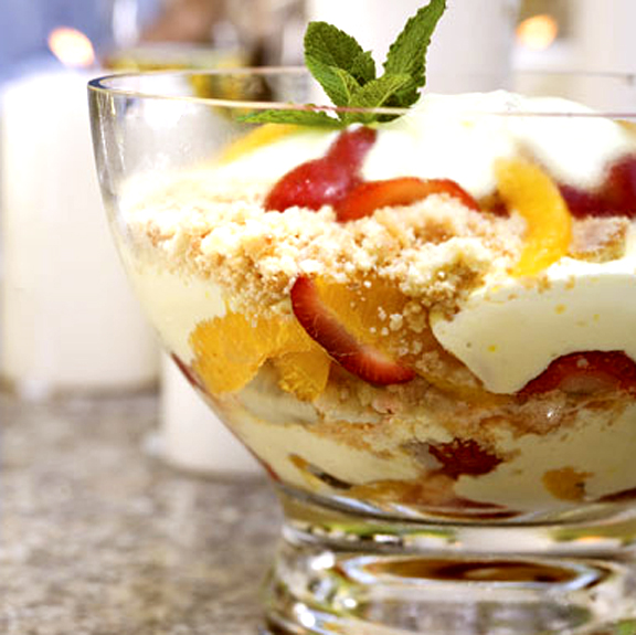 Pear Strawberry Trifle picture