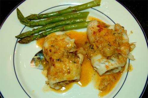 Stuffed Flounder In Shrimp Sauce picture