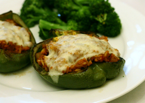 Green Peppers Stuffed With Mediterranean Rice picture