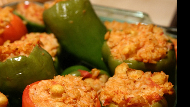 Stuffed Peppers with Corn picture