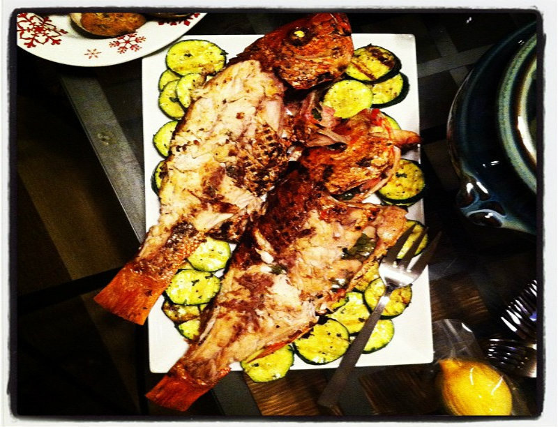 Baked Red Snapper picture