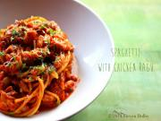 Spaghetti With Chicken Ragu Holiday Recipe