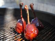 Chipotle Cherry Chicken Lollipops