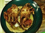 Sapos Fried Soft Shell Crab Huevos Rancheros