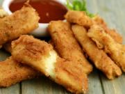 Fried Mozzarella Sticks By Tarla Dalal