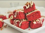 Chewy Red Velvet Brownie