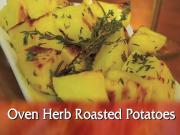 Oven Roast Herbed Potatoes