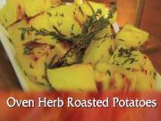 Oven Roast Herbed Potatoes