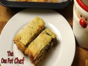 Fruit Mince Shortbread Slice