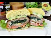 Spinach And Cheese Stuffed Turkey Burgers 1015115 By Cookingwithcarolyn