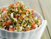 Sprouted Moong Salad Diabetic Recipe By Tarla Dalal