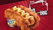 Kfcs New Cheese Filled Hot Dog With Fried Chicken Bun Is Selling Out Fast